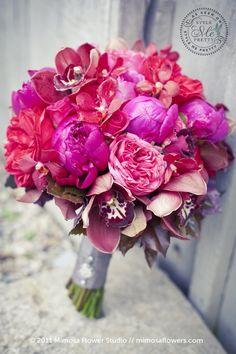 hot pink wedding bouquet