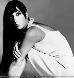 Cher photographed by Richard Avedon, 1966.