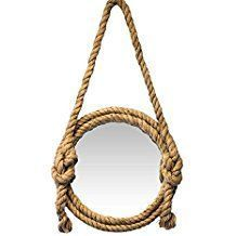 Best Rope Mirrors and Nautical Wall Decor! Discover the top-rated nautical themed rope wall decorations and rope themed mirrors. Nautical Bathroom Mirrors, Nautical Mirror, Nautical Wall Decor, Beach Wall Decor, Nautical Rope, Round Mirror With Rope, Rope Mirror, Rope Frame, Round Wall Mirror