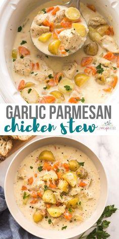 Slow Cooker Chicken Stew, Creamy Chicken Stew, Beef Stew Crockpot Easy, Stew Chicken Recipe, Crockpot Beefstew, Recipe Stew, Stewed Chicken, Healthy Slow Cooker, Slow Cooker Recipes