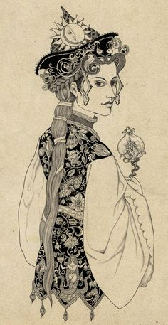 This would make a beautiful embroidered Persian jacket- Illustrations by Sveta Dorosheva