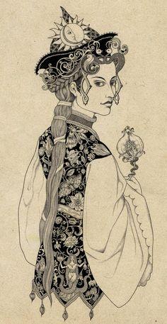 This would make a beautiful embroidered Persian jacket- Illustrations by Sveta Dorosheva