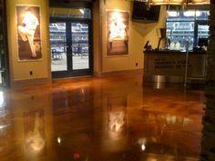 Interior commercial decorative concrete flooring - detroit tigers stadium