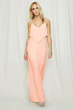 $68. Pretty By Rory Flounce Maxi Dress