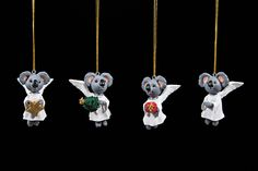 Christmas Decorations Koala Angels