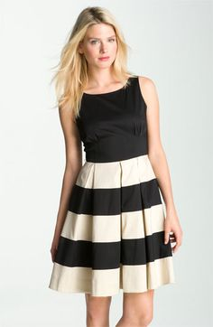 kate spade new york 'celina' pleated stripe dress | Nordstrom