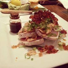 Tuna tataki the most beautiful fish I've ever seen. #Kingyo #Izikaya #food #tataki by justsherryj