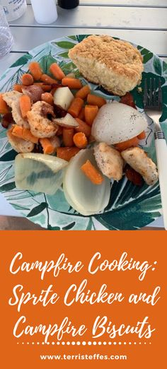 Cooking with a Dutch Oven and charcoals is easier than you might think. Our first time trying it we got these two delicious recipes!  #spritechicken #dutchovencooking #campcooking #dutchovenbiscuits