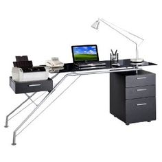 This is the computer desk I'd like if I could trust that I wouldn't accidentally break it.