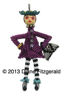 Fingers in My Pocket Doll Pendant by Diane Fitzgerald - Media - Beading Daily