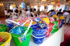 under the sea beach themed Korean dol first birthday party for Jonah beach pail favors
