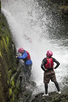 What's one of the most popular stag weekend activities in the UK - It's canyoning with Adventure Britain and you can see why from this photograph