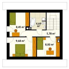 Rzut MT Jagoda  CE Floor Plans, Arquitetura, Houses, Floor Plan Drawing, House Floor Plans