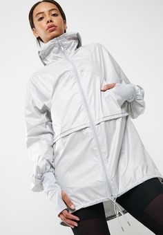 80be9d4c3e6fc4 Long jacket - Mid grey heather Asics Hoodies
