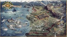 The Witcher 3 World Map is an official concept artwork for The Witcher Wild Hunt, the video game created by CD PROJEKT RED. It shows the Witcher's Northern Realms. The Witcher 3, The Witcher Books, Witcher Art, Witcher 3 Wild Hunt, Fantasy Map, Fantasy World, Witcher Wallpaper, Medieval, Rpg Map