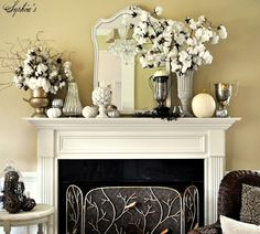 Gorgeous Fall Mantel with Cotton! From Sophias Decor. 2019 Gorgeous Fall Mantel with Cotton! From Sophias Decor. The post Gorgeous Fall Mantel with Cotton! From Sophias Decor. 2019 appeared first on Cotton Diy. Diy Halloween Home Decor, Halloween Decorations For Kids, Holiday Decor, Beautiful Houses Interior, Beautiful Homes, Shabby Chic Fall, Cotton Decor, Up House, Home Decor Inspiration