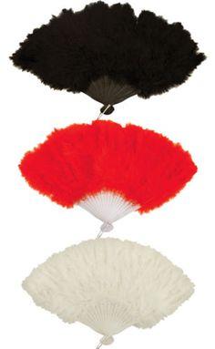 Quality Costume Soft Fluffy Feather Fan Burlesque Moulin Rouge Fancy Dress Party | eBay