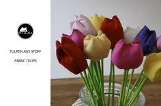 Tulpen Nähen / Tulpen aus Stoff / Fabric Tulips / Tulipas de tecido