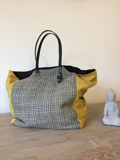 Sac Sardine Black Fabric, Basket Bag, Sew, Couture Sac, Diy Handbag, Bags