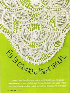 Crochet y Bebê: Vestido em Renda Renascença !!! Passo a passo de pontos da Renda Renascença!