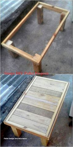 Tables Work Here comes a favorable idea of wood pallet table that is customary designed with the wood use inside it. It is much modish looking because of the elegance combination effect of the wood work finishing as right over it. GRAB THE IMAGE! Wooden Pallet Table, Wooden Pallet Projects, Wooden Pallet Furniture, Small Wood Projects, Wooden Pallets, Pallet Ideas, Wooden Diy, Pallet Tables, 2x4 Wood