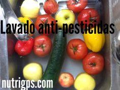 Receta para reducir pesticidas de frutas y verduras -