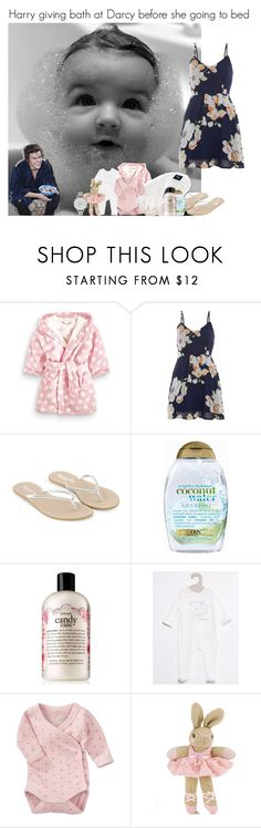 """Harry giving bath at Darcy before she going to bed"" by louise-smiths ❤ liked on Polyvore featuring Monsoon, Organix, philosophy, Name It and Olivia Burton"