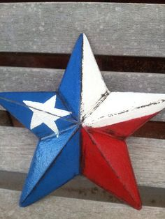 Distressed Cast iron Texas Star  Hand painted by EJsShabbyShop, $21.95