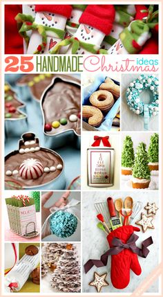 The 36th AVENUE | 25 Handmade Christmas Ideas Lots of really good ideas - although I don't think I would like to eat the cupcake with the Christmas Tree icing on!