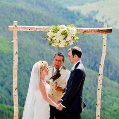 3 Piece White Birch Wedding Arch Kit - Northern Boughs