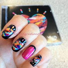 "Such awesome Graffiti6 ""Colours"" inspired nails!"