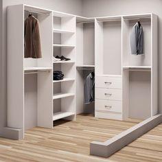 """TidySquares Inc, Demure Design 75""""W - 96.25""""W Closet System"""