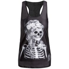 9.41$  Watch now - http://dihui.justgood.pw/go.php?t=117240601 - Stylish Slimming Scoop Neck Skulls Print Tank Top For Women 9.41$