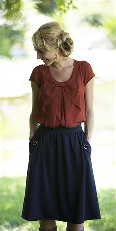 Check out the Perfect Pockets Skirt! http://www.modestpop.com/products/perfect-pockets-skirt-navy