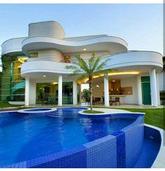 Viking Creek casas de luxo - The Lodge at Whitefish Lake Modern Villa Design, Bungalow House Design, Luxury Pools, Luxury Homes Dream Houses, Modern Mansion, Dream House Exterior, Dream Home Design, Classic House, Future House