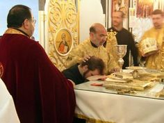 Ordination of a deacon. The Deacon is the third and lowest degree of the major orders of clergy in the Orthodox Church. The word deacon means server and originally it referred to a person who waited on tables. The place of a deacon is to serve the community and to lead prayers. He must have the blessing of the presiding priest or bishop to put on his vestments and serve. A deacon may not celebrate the sacraments by himself; he may not give blessings; he may not consecrate the Holy Gifts.