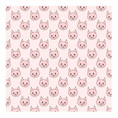 pale pink cat cartoon pattern on a pink background