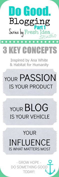 Do Good. Blogging - 3 Key Concepts you need to know to succeed l Fresh Idea Studio