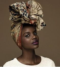 Head wraps are known to be worn by the traditional African woman. Today, they're more of a fashion statement and a way of hiding a bad hair day. African Inspired Fashion, African Fashion, African Beauty, African Women, African Head Wraps, Bad Hair Day, Afro Hairstyles, Beautiful Black Women, Bunt