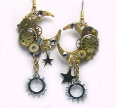 Watch Gear Steampunk Earrings  Clock  clockwork by LizonesJewelry, $32.50
