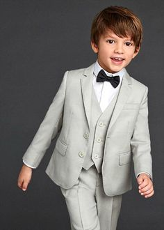 3 Pieces Child Dinner Ball Party Formal Tuxedo Page Boy Suit Customized Kid Suit Dolce Gabbana 2016, Dolce And Gabbana Kids, Wedding Outfit For Boys, Boys Wedding Suits, Usa Baby, Party Suits, Kids Suits, Stylish Boys, Page Boy