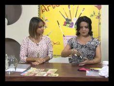 A artesã Marisa Magalhães ensina a fazer Craquelê no Vidro, técnica que faz um grande sucesso.