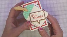 Stamping T! - Washi Tape Folded Triangle Gift Boxes