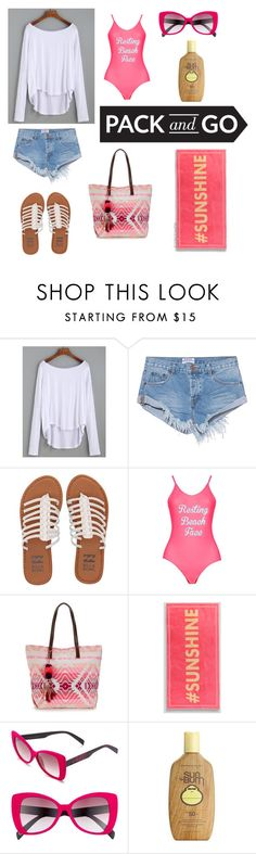 """""""Pack and Go: Labor Day"""" by irockcrowns ❤ liked on Polyvore featuring One Teaspoon, Billabong, Boohoo, Italia Independent and Sun Bum"""