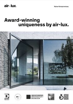 The pivot door gives a wide and generous opening and simple modern appearance, perfectly fitted to contemporary architecture. However, many pivot doors currently on the market cannot compete with normal or sliding doors in terms of tightness. This is the great advantage of the air-lux pivot door: we guarantee 100% tightness at an unprecedented size of 15 m². #airluxwindows #pivot #pivotdoor #pivotwindow #framelesswindows #minimalwindows