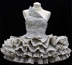 Jolis Paons - found her paper dress on a blog then flickr... amazing