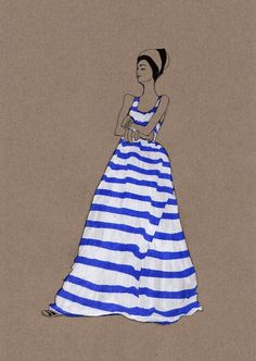 I spotted the work of illustrator Daphne van den Heuvel on Pinterest a few days ago. I adore her 2011 series: I Love Stripes.  Featuring chic girls in stripy tops and dresses, this a collection of fashion illustrations I'd love to hang on the wall. Daphne also sells prints of her illustrations. You can …