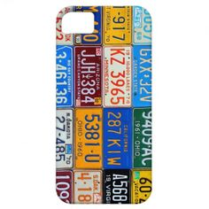 License Plates of USA - Our Colorful History iPhone 5 Cover to Peter in Germany!