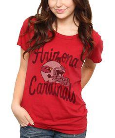 Women's Washington Redskins Junk Food Cream All American Raglan Three-Quarter Length Sleeve T-Shirt