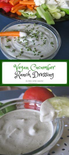 Rich, creamy and amazing vegan Cucumber Cashew Ranch.